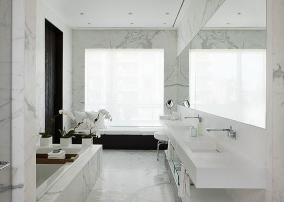 Bathroom marble white